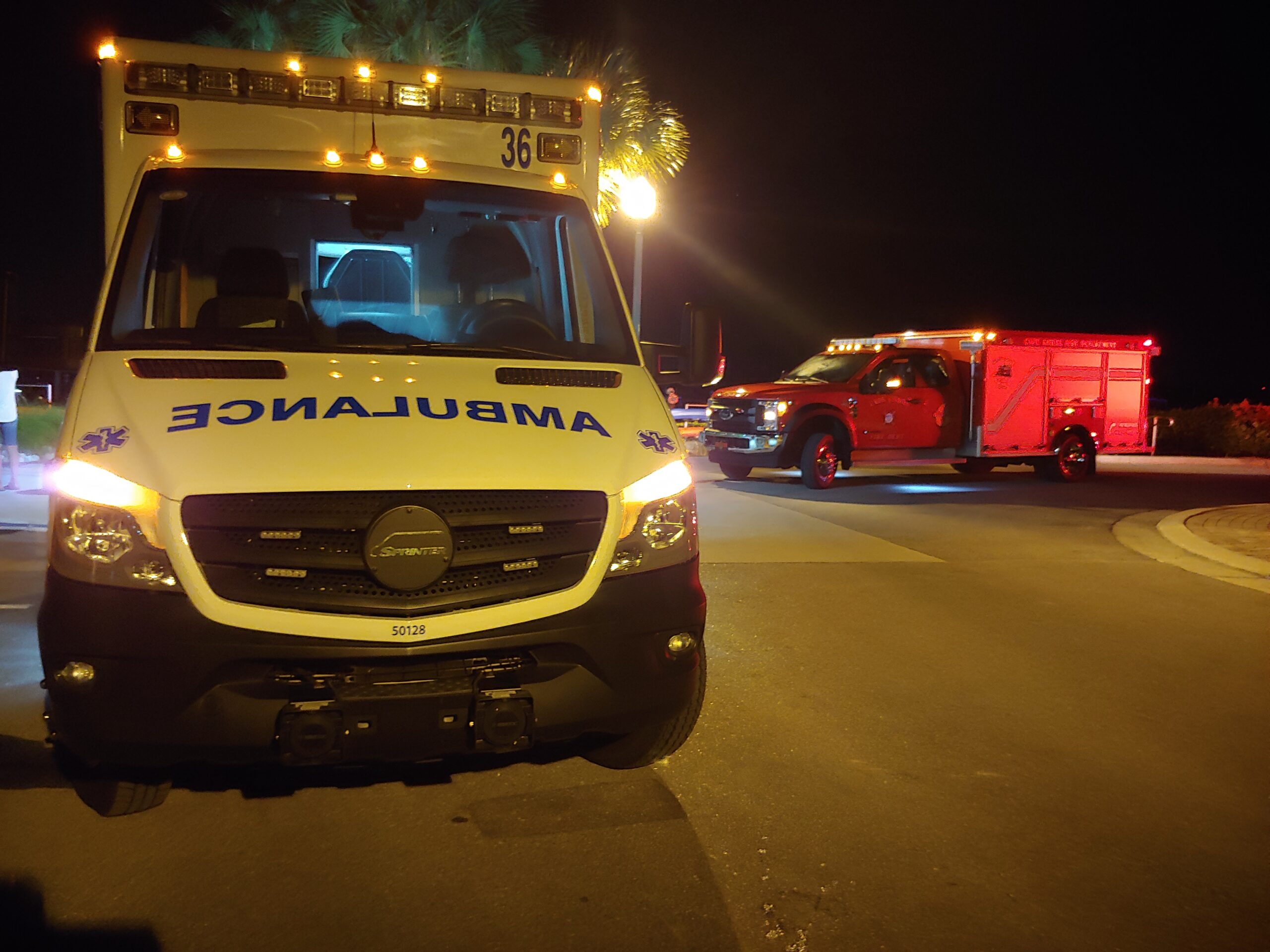 Ambulance and Rescue truck