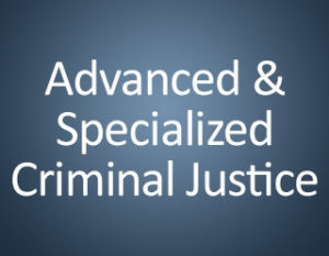 Advanced and Specialized Criminal Justice Training